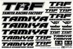 TRF Sticker C (Mirror Finish Border/Black)